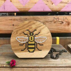 Sac à main en bois - abeille articles en bois