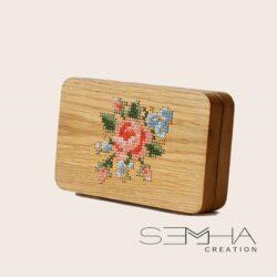 Sac à main en bois - florale – Semha