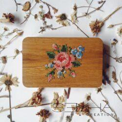 Sac à main en bois - florale– Semha