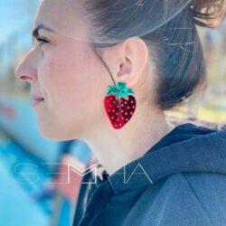 Strawberry-boucles d'oreilles