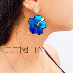 Boucles d'oreilles tropical made par Semha Store
