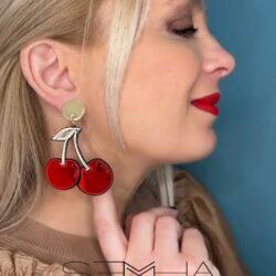 Boucles d'oreilles Cerise-article cadeaux made à la Tunisie