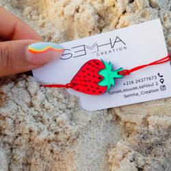 Bracelet Strawberry made par Semha.store