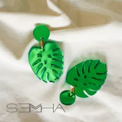 Boucles d'oreilles jungle verte made par Semha.store
